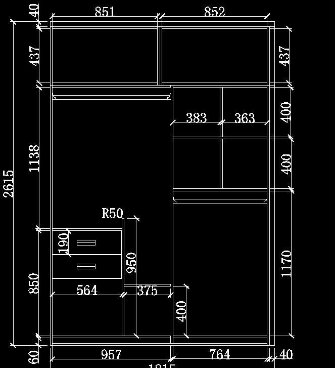 CAD如何画衣柜透视图