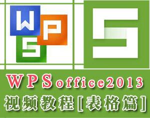WPS2013表格教程