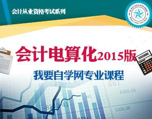 会计电算化课程(2015版)