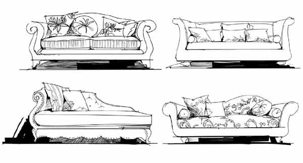 第二讲:一点透视家居单体(单人沙发,双人沙发,l型沙发,茶几