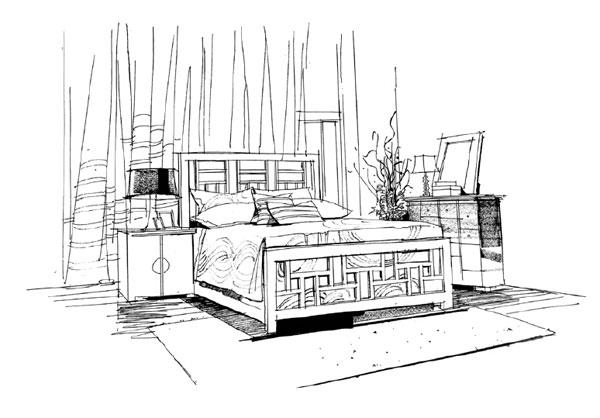 第二讲:一点透视家居单体(单人沙发