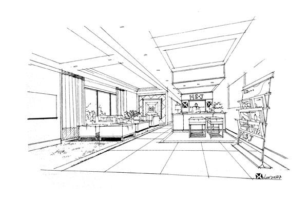 公司前台设计要素与手绘表现