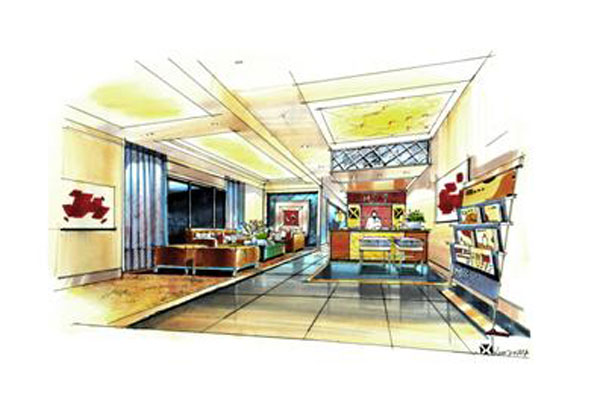 第三十五講:商業空間專賣店空間馬克筆