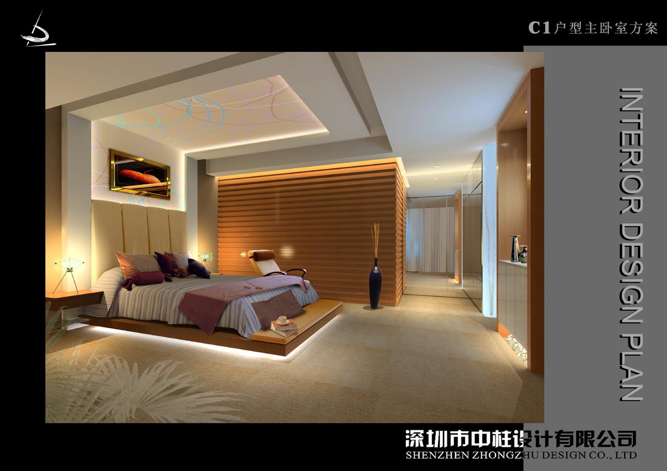 【卧室效果图_客厅与卧室隔断墙