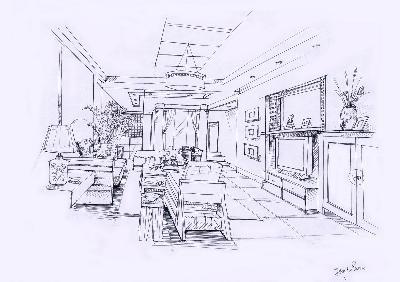 设计素材 设计欣赏 室内/建筑设计类 手绘图