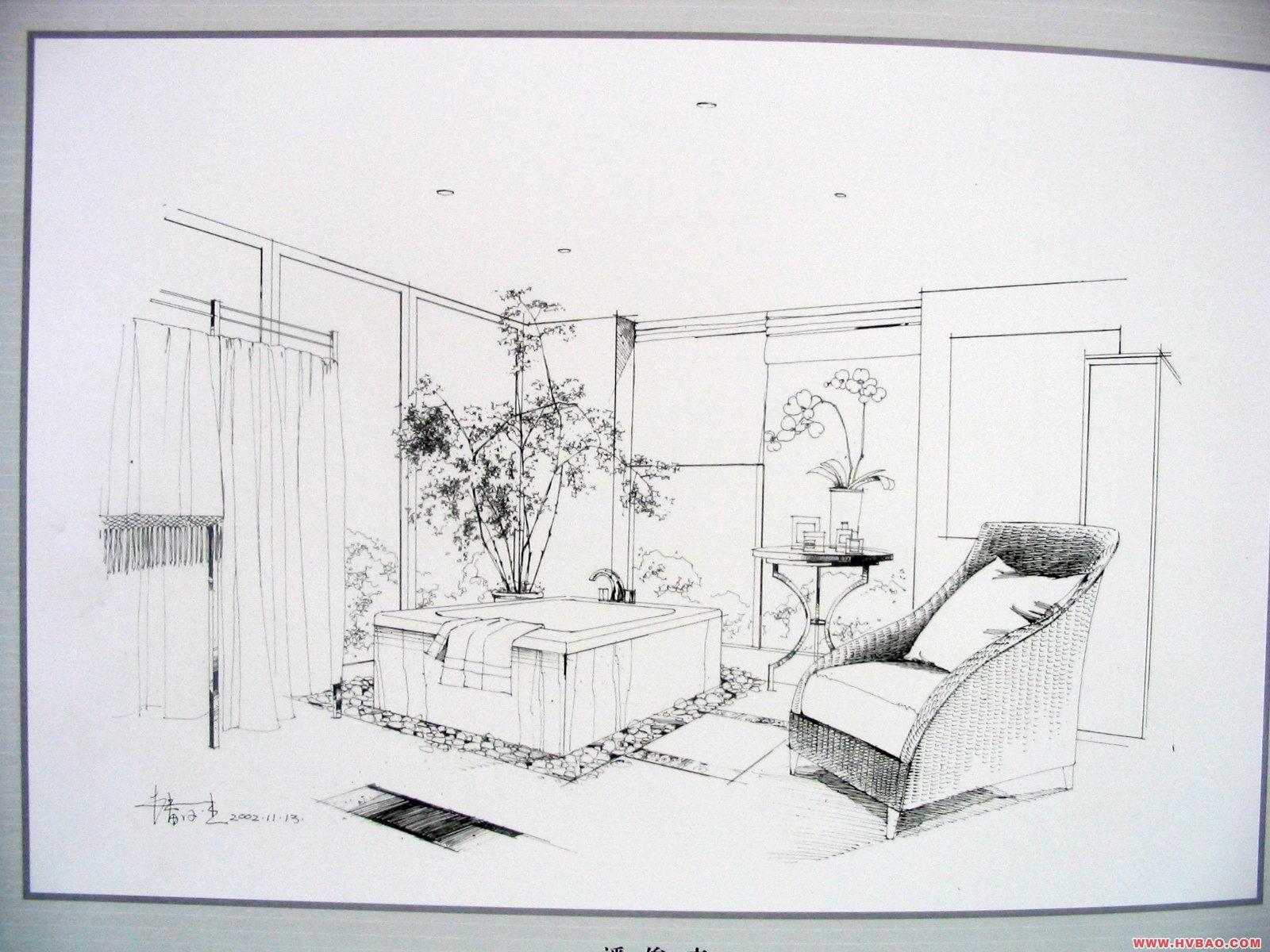 画室内手绘图步骤