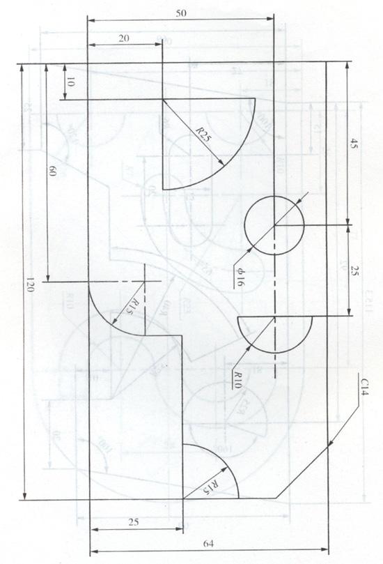 CAD图纸二水塘符号图纸图片