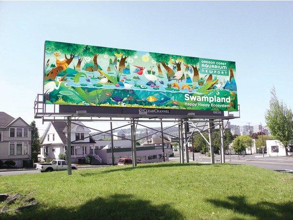 国外动物园swampland户外插画广告