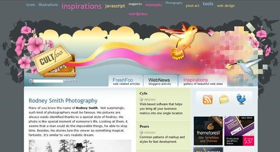 50个创意优秀独特的网页页眉设计